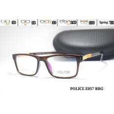 Frame Kacamata  E057 Police  Baca Minus Lensa  Pria  Wanita - B6C653