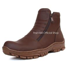 Frandeli Elastico Work Shoes Safety Zipper Boots Sepatu Pria