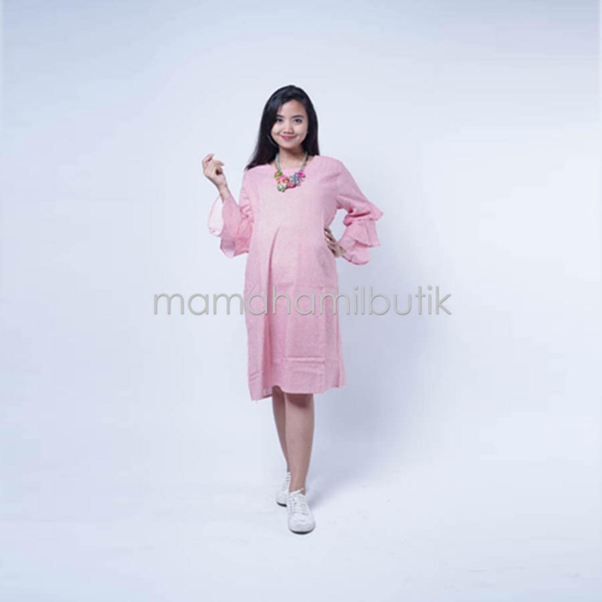 Panjang Lengan : 43 cm FREE CD Hamil Mama Hamil Baju Hamil Dress Hamil Kotak Layer