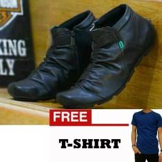 FREE KAOS Sepatu Casual Boots Kickers Kerut Wrinkle Zipper 346703cdad