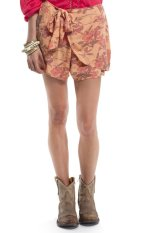 Promo Free People Printed Sarong Shorts