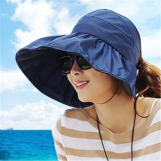 Jual Freebang Perempuan Lebar Brim Musim Panas Matahari Sinar Uv Melindungi Pantai Rops Menggulung Visor Cap Intl Branded