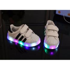 Pusat Jual Beli Freeshop Daldas Kids Unisex Stripe Led Sneakers Light Up Flashing Shoes Black Dki Jakarta