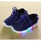 Harga Freeshop Model Sepatu Lampu Anak Kasual S264 Blue Termahal