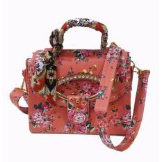 Freeshop -Tas Bahu Crossbody Shoulder Scarf Bag Clutch Selempang Wanita Kanvas S309 - Orange