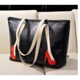 Beli Freeshop Tas Wanita Women Fashion Pu Tote Leather Handsbags Shoulder Bag Tote Bag Higheels Branded Import Korean Elegant Bag Style Hitam Online Terpercaya