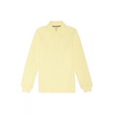 French Toast Boys Long-Sleeve Pique Polo Shirt, Yellow, Large/14-16 Husky - intl