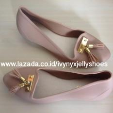 Harga Fringe Jelly Shoes Warna Mocca Yang Murah