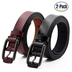 [From.USA]Set of 2 Womens Fashion Genuine Cowhide Leather Belt Vintage Casual Belts for Jeans Shorts Pants Summer Dress for Women With Alloy Pin Buckle By ANDY GRADE (Style A) B073FK7WY6
