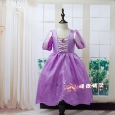 Frozen Snow White Princess Belle Gaun Putri Sophia Musim Panas Perempuan-ungu