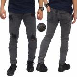 Toko Frozenshop Com Jeans Thigh And Knee Rips Ankle Zip Grey Celana Jeans Lengkap