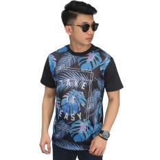 Beli Frozenshop Com Mesh T Shirt Leaf Printing Kaos Cowok Online Terpercaya