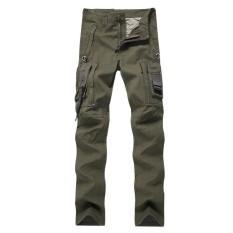 FS Pria Wanita Luar Ruangan Pelatihan Banyak Kantong Klasik Sesuai Kasual Cargo Celana Latihan Fisik Taktis Celana Warna: layar Tentara Ukuran: 30 Keberuntungan-G