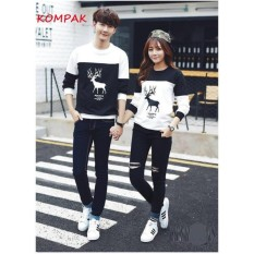 FS - SWEATER COUPLE RUSA / TSHIRT MOOSE /BAJU PASANGAN MURAH /KAOS KOMPAK TOGETHER