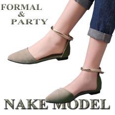 FS01 NAKE Flatshoes gelang selop wanita