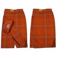 FTC - Banaka Sarung Celana Anak Size M (Orange Abu)