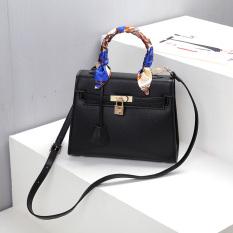Fu Ruili Tas Fashion Wanita Baru Tas Selempang Tas Model Hermes (Hitam (Besar))