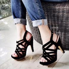Diskon Besarfuboshoes Sepatu Wanita High Heels Maureen Black