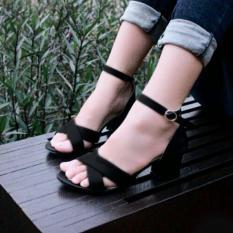 Spesifikasi Fuboshoes Sepatu Wanita High Heels Olga Black Murah