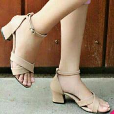 Spesifikasi Fuboshoes Sepatu Wanita High Heels Olga Cream Paling Bagus