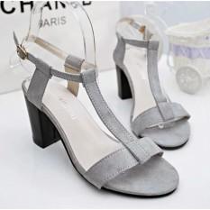 Harga Fuboshoes Sepatu Wanita High Heels Sonya Grey Yang Bagus