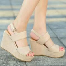 Jual Fuboshoes Sepatu Wanita Wedges Fbs08 Cream Original