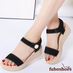 Harga Fuboshoes Sepatu Wanita Wedges Fbs09 Hitam Original