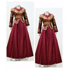 Fufuclothes Gamis Batik Putri Bellavania - MERAH