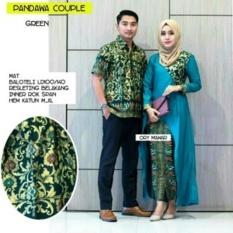 Spesifikasi Fufuclothes Batik Couple Sarimbit Motif Modern Hijau Baru