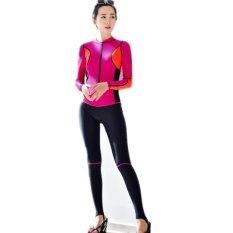 Full Wetsuit 2017 Menyelam Perapi Panjang Lengan Swimwear Full Body Swimwear untuk Wanita Memancing Pakaian Sport Swimsuits Snorkeling-Rose -Intl