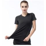 Beli Fullbelief Olahraga T Shirt Menjalankan Gym Blus Binaraga Yoga Pakaian Slim Cepat Kering Ventilasi Tipis Kemeja Wanita Lengan Tee Grey Intl Online