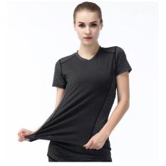 Toko Jual Fullbelief Olahraga T Shirt Menjalankan Gym Blus Binaraga Yoga Pakaian Slim Cepat Kering Ventilasi Tipis Kemeja Wanita Lengan Tee Grey Intl
