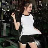 Jual Fullbelief Wanita Olahraga Set Dua Piece Suits Menjalankan Gym Swimwear Yoga Wanita Pakaian Slim Cepat Kering Wanita Shirt Dengan Celana Pendek Hitam Dan Putih Intl Ori