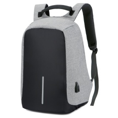 Review Tentang Function Anti Theft Travel Backpack Male Large Capacity Business Computer Backpack Charge Shoulder Bag Intl