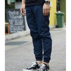 Funky Celana Jogger Panjang Big Size No 34 Navy Jawa Barat Diskon