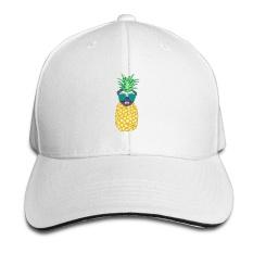 Funny Pineapple Pug Tabir Surya Terbaik Sandwich Memuncak Cap, Topi Bisbol Zmvise-Intl