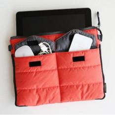 Gadget Pouch Organizer Tas Dompet HP Ipad Tablet Serbaguna - Orange