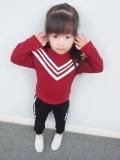 Jual Gadis Baru Anak Anak Kaos Sweater Celana Sgd V Kerah Brace Jas Merah Murah Tiongkok