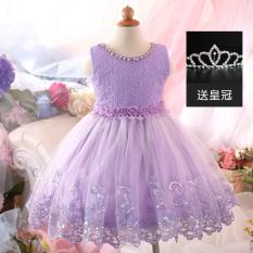 Toko Gadis Baru Gaun Putri Anak Gaun Ungu Di Tiongkok