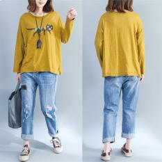 gadis-gemuk-korea-fashion-style-terlihat-langsing-lengan-panjang-baju-dalaman-oranye-7946-027843501-198b7477d7faea7d2b36efae28559d45-catalog_233 10 Harga Model Baju Batik Wanita Yang Gemuk Teranyar saat ini