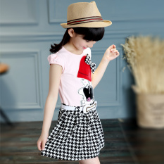 Katalog Anak Perempuan Kecil Rok Gadis Gaun Kotak Kotak Merah Muda Terbaru