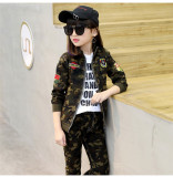 Promo Gadis Olahraga Sepotong Lengan Panjang Dilengkapi Gadis Hijau Tentara
