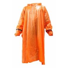 Gajah Jas Hujan Poncho Lengan Murah Warna - Orange