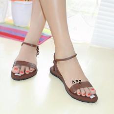 Diskon Galaxy Sandal Teplek Nafiza Brown Nfz 008 Branded
