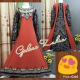 Spesifikasi Galeri Zahra Abaya India Full Bordir Gaun Pesta Jingga Beserta Harganya
