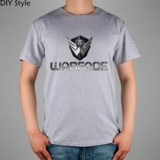 Permainan R Medan Tempur Kaus Tema Perang Katun Atasan Likra 11030 Fashion Merek T Shirt Pria Baru DIY Gaya Kualitas Tinggi Abu- abu 2017-Intl