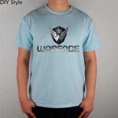 Permainan R Medan Tempur Kaus Tema Perang Katun Atasan Likra 11030 Fashion Merek T Shirt Pria Baru DIY Kualitas Danau Biru 2017-Intl