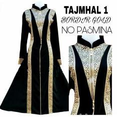 Gamis abaya arab hitam / abaya tajmhal