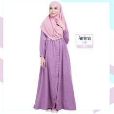 Gamis Amima Aufa Dress Purple - Baju Gamis Wanita Busana Muslim Dress