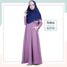 Gamis Amima Kamila Dress Purple - Baju Gamis Wanita Busana Muslim